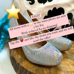 DELICACY Iridescent 6M Crystal Pumps Heels